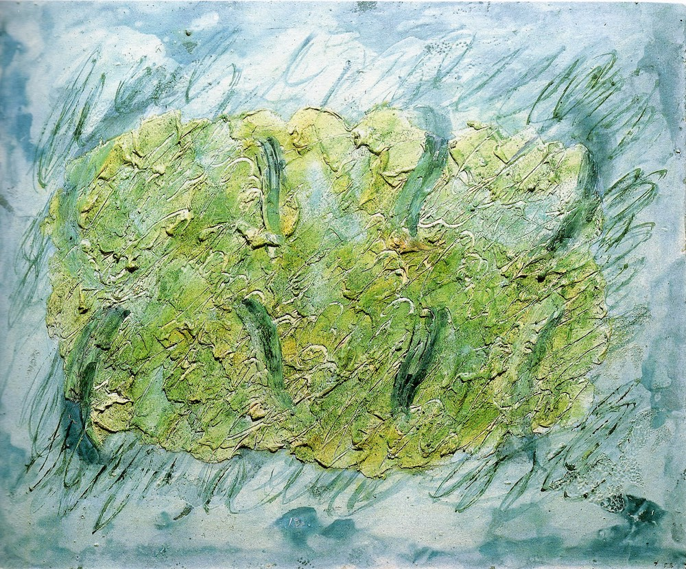 Fautrier, Paysage, 1955, oil on paper mounted on linen, 58 x 72 cm, private collection